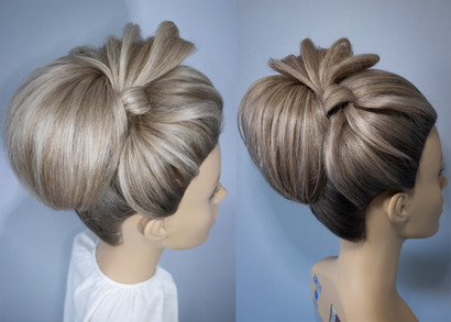 Bridal Hairstyling before and after, Mazz Loxton, Hair and Makeup Artistry, Sheffieldk