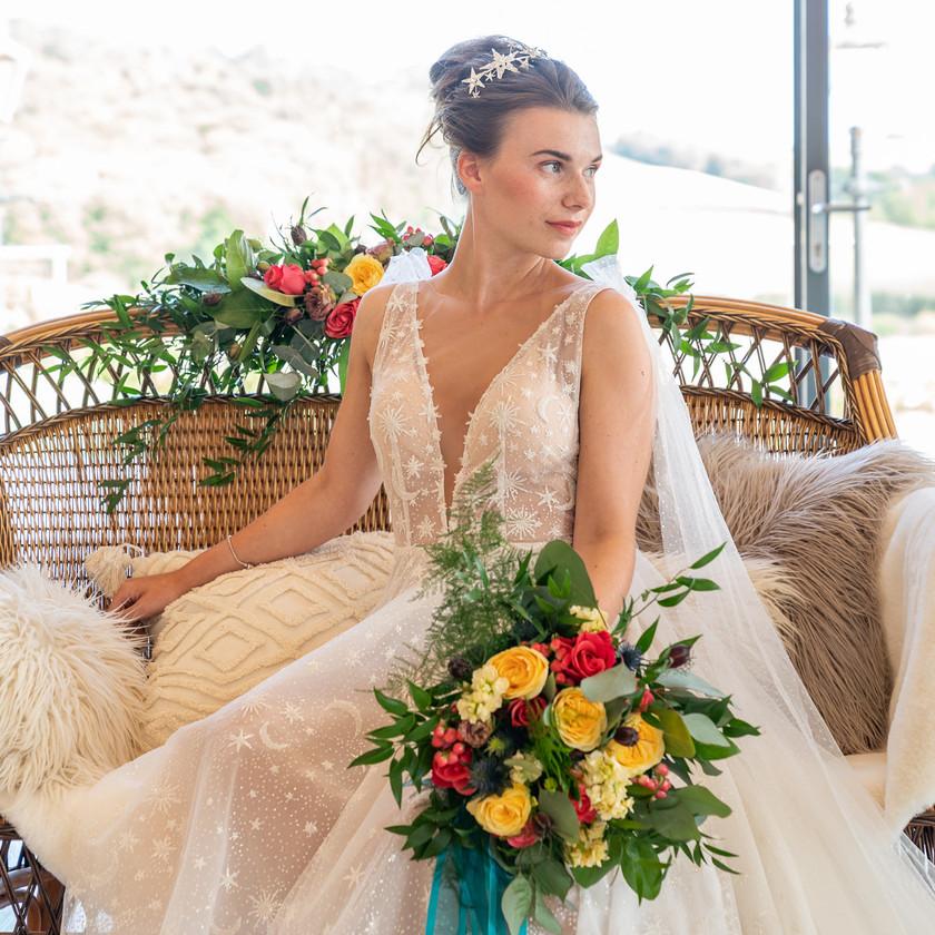 Natural Bridal Makeup with Textured Boho Bun, Mazz Loxton, Hair and Makeup Artistry, Sheffield