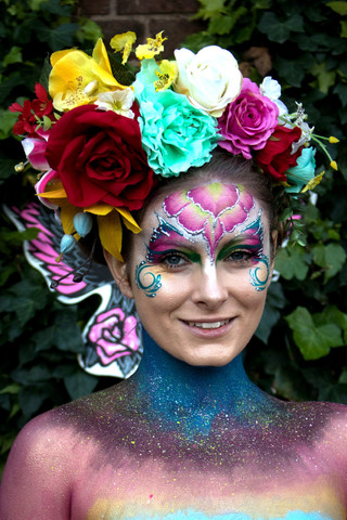 Adult Face Paint and glitter