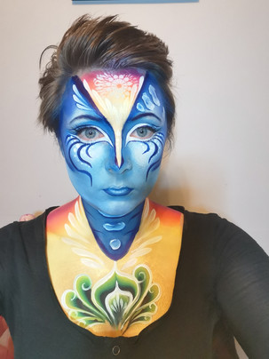 Wonders of nature, Face Paint. The Water Cycle Practice Run,  The Mobile Painting Parlour, Sheffield
