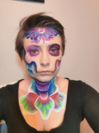 Wonders of nature, Face Paint. Death and Rebirth Practice Idea. Face Painter: Mazz Loxton, The Mobile Painting Parlour, Sheffield