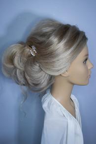 Ringlet Bun Bridal Hair Styling. Mazz Loxton, Hair and Makeup artistry, Sheffield