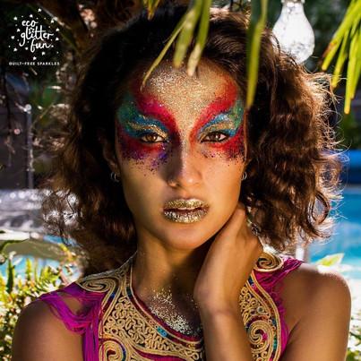 Adult Ibiza inspired festival glitter