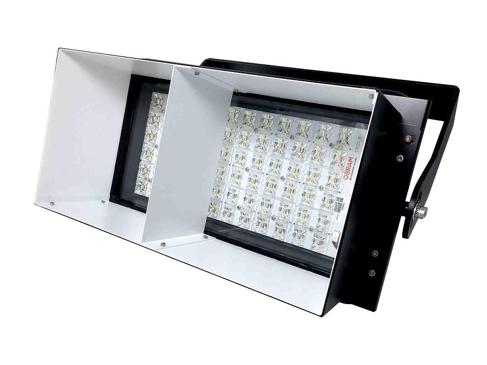 BSS LED Australia floodlight with glare control shroud