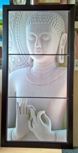 Very Large 1.65m framed Buddha