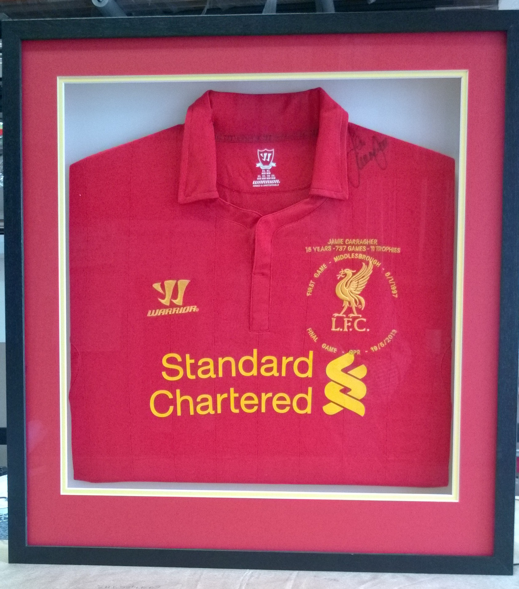 Signed Liverpool shirt