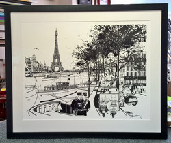 Black Pen Parisian scene
