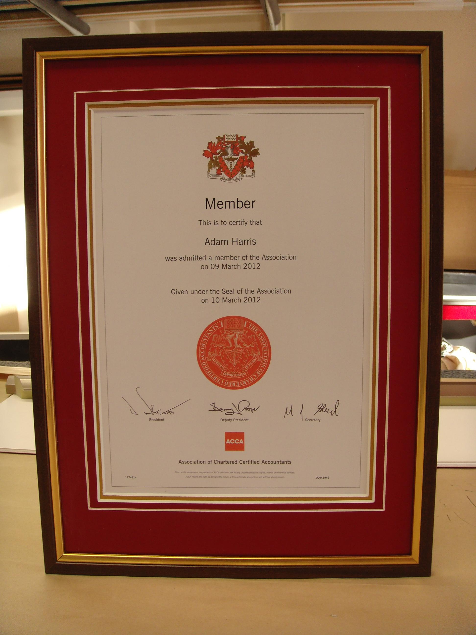 Official Diplomas & Certificates