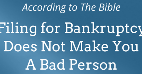 What Does the Bible                                 Say About Bankruptcy?