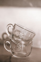 Joanie Vintage Glass Tea Cups