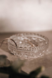 Marg Vintage Cut Glass Small Dish