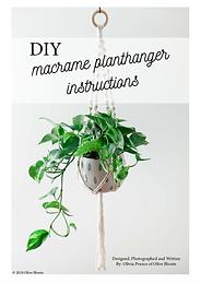 Plant hanger tutorial- digital download