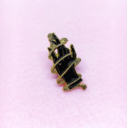 Hand and Rope Enamel Pin