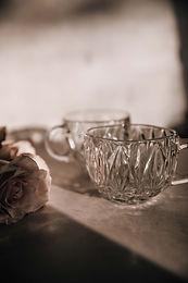 Harrison Vintage Cut Glass Tea Cups