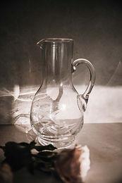 Mavis Vintage Etched Glass Pitcher