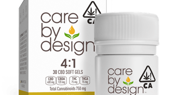 Care By Design - 4:1 CBD Soft Gels 30 Count