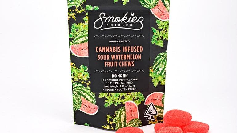 Smokiez - Sour Watermelon Fruit Chews- CA