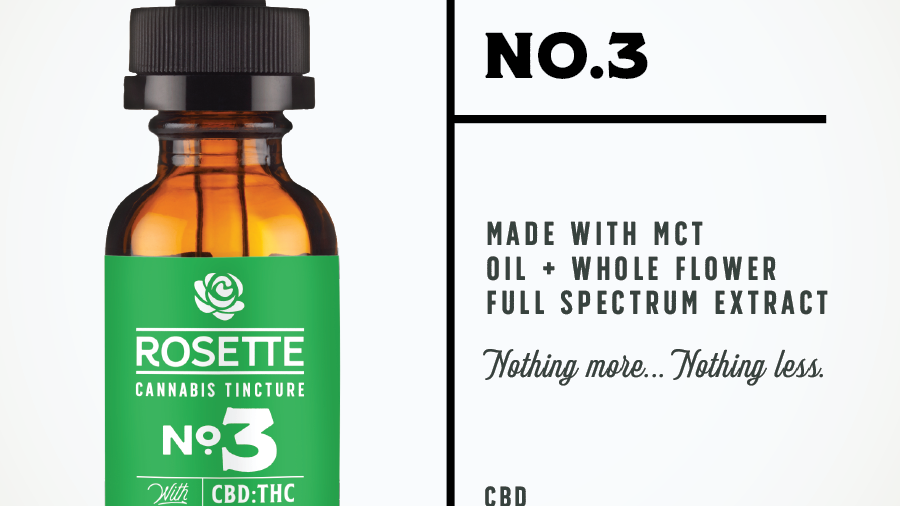 Rosette Wellness No. 3 CBD Rich Cannabis Tincture