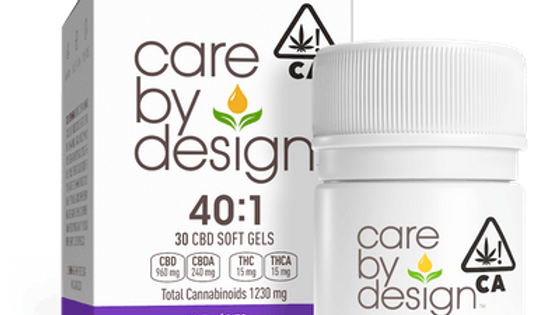 Care By Design - 40:1 CBD Soft Gels 30 Count