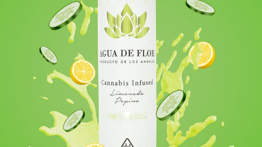 Agua De Flor - Limonada Pepino (Cucumber Lemonade) 100mg