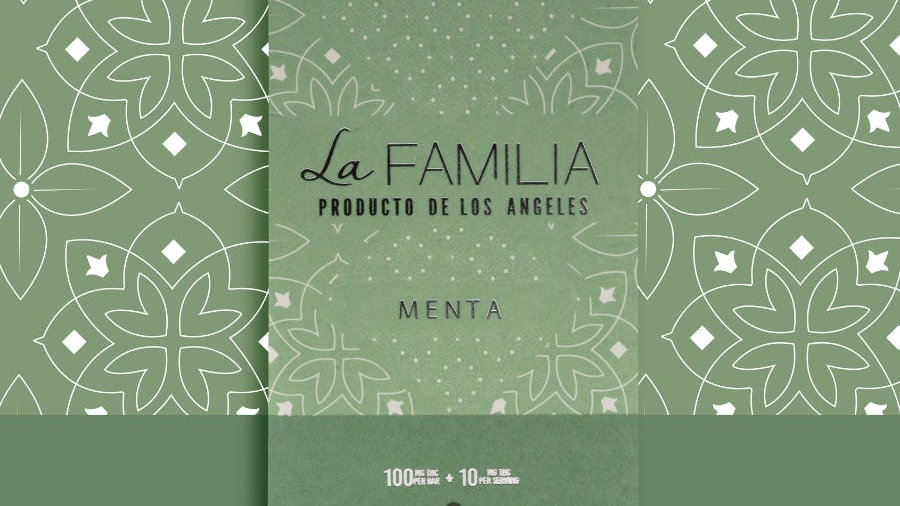 Product of Los Angeles - Dark Chocolate Menta Bar (Mint) 100mg