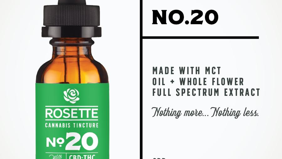 Rosette Wellness No. 20 CBD Rich Cannabis Tincture