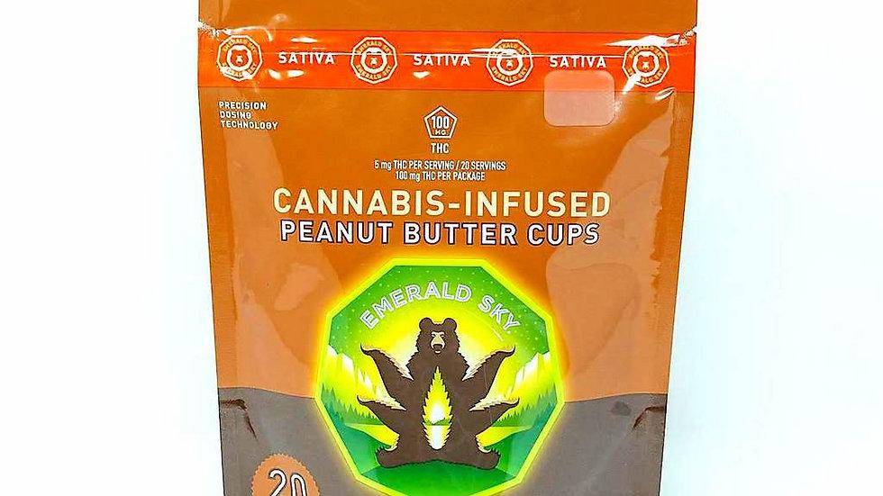 Emerald Sky - Peanut Butter Cups 100mg (Sativa)