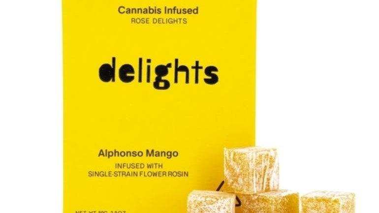 Rose Delights - Indica Alphonso Mango Rosin Gummies