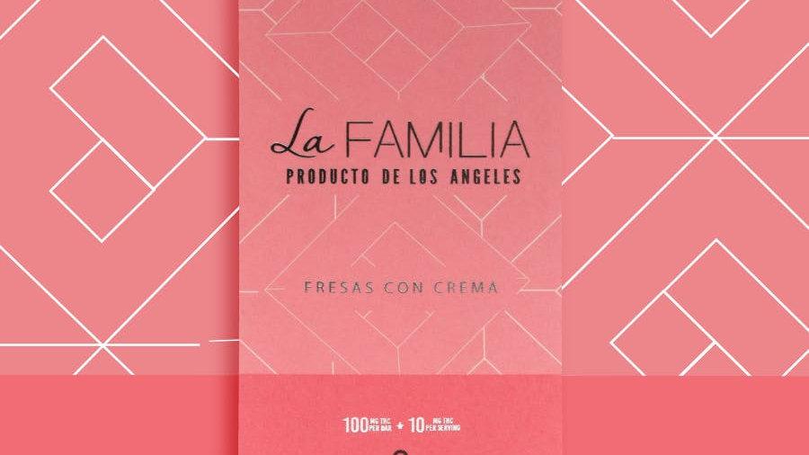 Product of Los Angeles - Fresas Con Crema Chocolate Bar 100mg