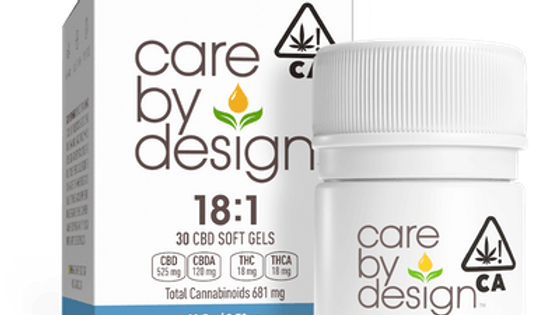 Care By Design - 18:1 CBD Soft Gels 30 Count