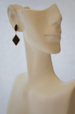 Black Onyx Dangle Earrings Y_G