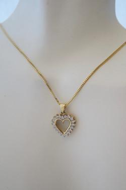 Diamond Heart 14KT Y_G