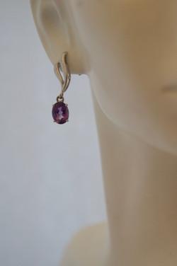 Amethyst Dangle Earrings W_G