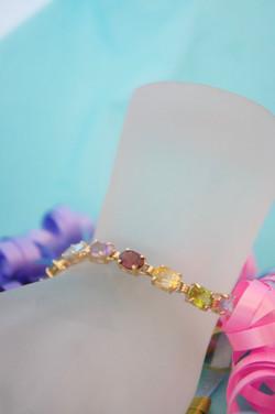 Multi Color Stone Bracelet 14KT Y_G