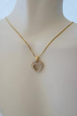 Diamond Heart Pendant 14KT Y_G