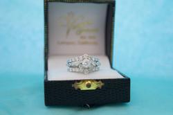 Estate Diamond Wedding Set 14KT W_G