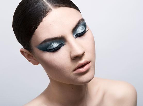 Beauty makeup på modeller