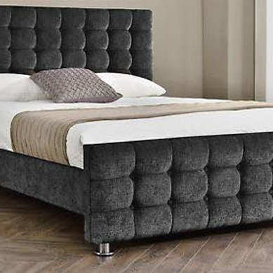 Chenile Paris Bed Frame with Memory Ortho Mattress
