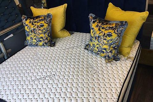 Plush Navy Divan Set and Coil Pillowtop Mattress