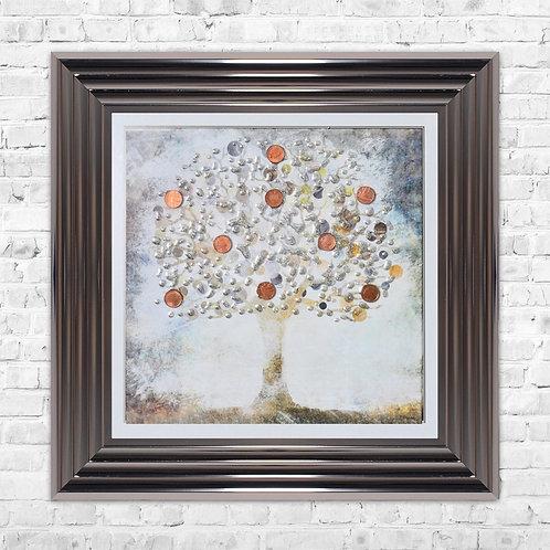 Copper Money Tree - 55 x 55 cm