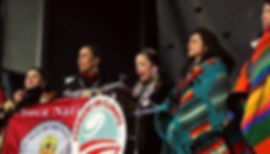 Indigenous women leaders speak during the during the Forward on Climate rally in Washington D.C