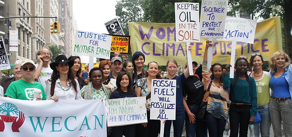 Women for Climate Justice at the 2014 People's Climate March in New York City - Photo via Emily Arasim/WECAN International