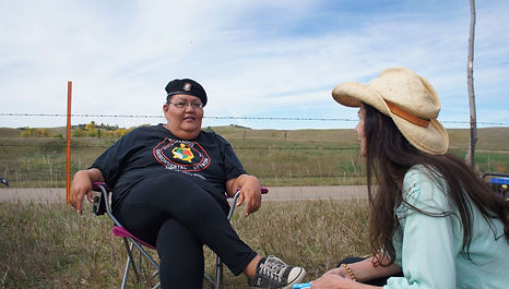 Joye Braun, water protector and camp founder at Standing Rock in North Dakota, is interviewed by WECAN International Executive Director, Osprey Orielle Lake