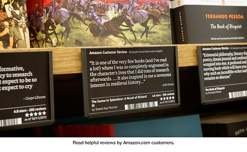 Rating Cards designed for the first Amazon Bookstore