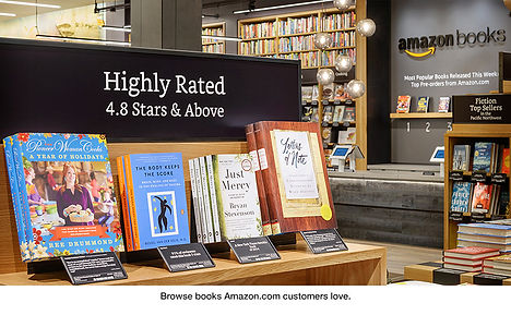 Signs designed for the first Amazon Bookstore
