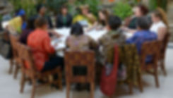 Global women leaders strategize together - Photo via Lori Waselchuk