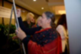 Vandana Shiva of Navdanya, India signs the Women's Climate Declaration at the 2013 WECAN International Women's Earth and Climate Summit - Photo via Lori Waselchuk