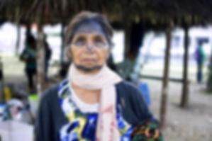 Portrait of Narcisa Gualinga - via Sophie Pinchetti/WECAN International