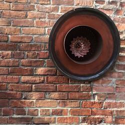 Copper on Brick