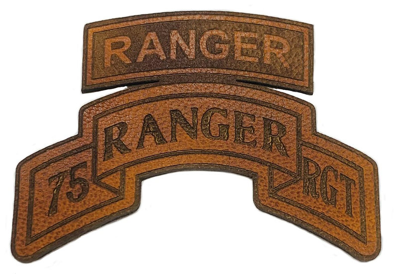 75th Ranger RGT Laser Engraved Leather Patch